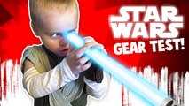 Star Wars: The Last Jedi Movie Gear Test- Kids with Lightsabers-