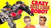 Crazy Justice League Movie Toys Robot Attacks the KIDS- Toy Test by KIDCITY