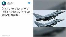 Allemagne. Deux avions de combat de l'armée s'écrasent après une collision