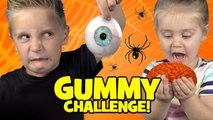 Halloween Gummy Food Challenge- Brains Eyes - Freaky Halloween Candy-