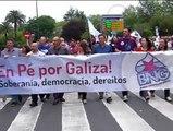 Los nacionalistas gallegos reivindican la soberanía de Galicia en la manifestación del BNG
