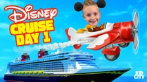 Kids on Disney Cruise Adventure Day 1- Fun Family Vacation - First Plane Ride Ever-