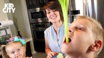Kids Eat Slime- DIY Sour Slime Candy - Family Fun by KIDCITY