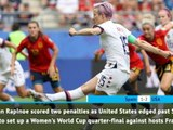 FOOTBALL: FIFA Women's World Cup: Fast Match Report - Spain 1-2 USA