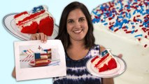 Mom vs American Flag Cake