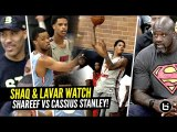 Shaq - Lavar Watch Shareef O'Neal vs Cassius Stanley GO AT IT at Drew League--- CRAZY HYPE GAME--