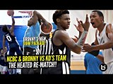 Bronny James DUNKS EVERYTHING Before HEATED RE-MATCH w/ Kevin Durant's Team--