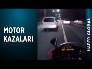 İstanbul'da Motosikletliler Makas Atarak İlerlerken Kazaya Sebep Oldu