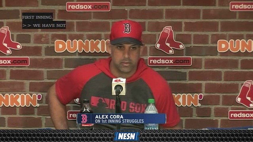 Alex Cora Acknowledges Red Sox's First Inning Struggles