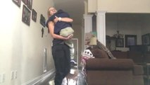 Big Sister Surprises Siblings with Visit Home After Four Months Apart