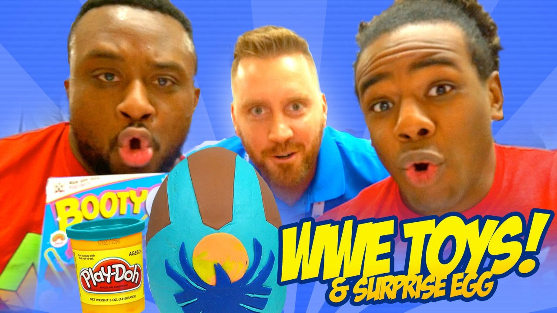 WWE Toys NEW DAY   a Play-Doh Surprise Egg with WWE Toys by KidCity