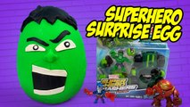 Marvel HULK Superhero Play-Doh Surprise Egg with Avengers Toys - Spiderman Toys by KidCity