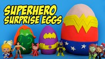 DC Superhero Girls Play-doh Surprise Eggs with Batman Toys - Justice League Toys - Frozen by KidCity
