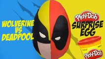Superhero Battle Play-doh Surprise Egg ft. Deadpool vs Wolverine Toys - Marvel Toys by KidCity