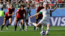 Megan Rapnioe Scores Two Penalties Against Spain