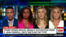 Panel on Trump denies sexual assault accusation from E. Jean Carroll, says 'She's not my type'. @AliceTweet #DonaldTrump #CNN