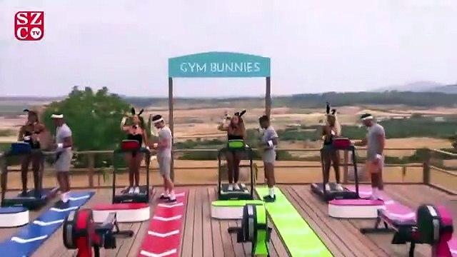 Yarışmacıları tavşan yaptılar, seyirciler çılgına döndü
