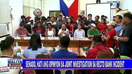Senado, hati ang opinyon sa joint investigation sa Recto