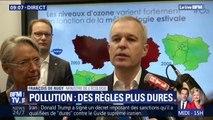 """François de Rugy annonce un """"déclenchement de la circulation différenciée beaucoup plus rapide"""""""