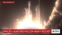 SpaceX Falcon Heavy makes dramatic early morning launch
