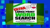 R.E.A.D Extra Large Print Word Search Volume 1 D.O.W.N.L.O.A.D