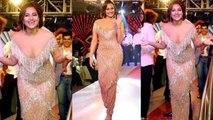 Sonakshi Sinha walks the ramp in shimmery beige gown; Watch video | FilmiBeat