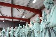 Les 12 apôtres de Notre-Dame de Paris en restauration à la SOCRA