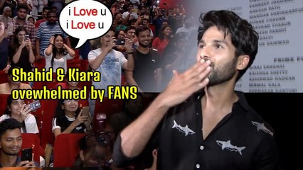 Kabir Singh Shahid Kapoor & Kiara Advani SURPRISED fans at Theater | What Fans Did will SHOCK you