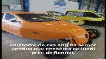 Rennes: Une vente aux enchères de bolides improbables