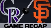 Dahl homers, Rockies shut out Giants - Rockies-Giants Game Highlights 6/24/19