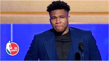 Giannis emotional thanking Bucks, family after winning MVP honors - 2019 NBA Awards