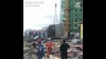 Cambodge: 28 morts dans l'immeuble effondré, deux survivants miraculeusement retrouvés