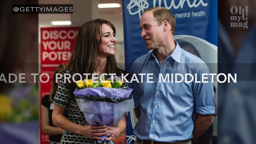 The gesture Prince William made to protect Kate Middleton