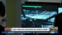 Dad creates video game to teach kids how to drive