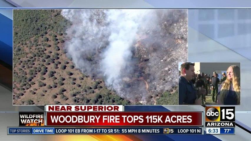 Woodbury Fire tops 115,000 acres