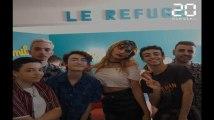 Nice: Bilal Hassani rend visite aux jeunes du Refuge