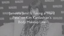 "Jameela Jamil Is Taking a ""Hard Pass"" on Kim Kardashian's Body Makeup Line"