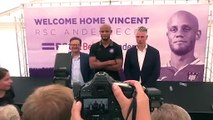 (Subtitled) Vincent Kompany is officially unveiled as Anderlecht player-coach