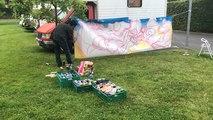 Un street-artiste invité à l'Ehpad, pour la fête de l'été