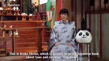 Shinto priest in Japan wears handmade panda mask to attract visitors to her shrine