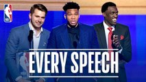 EVERY Speech From The 2019 NBA Awards- - Giannis, Doncic, Siakam and More-