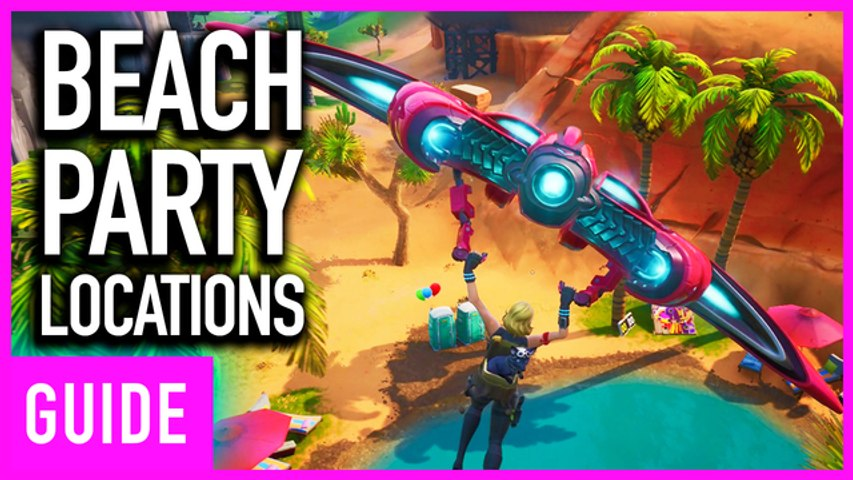 Fortnite - Where To Find All 6 Beach Party Locations | 14 Days Of Summer Challenge Guide