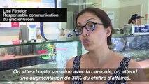 En pleine canicule à Paris, boom des ventes de glaces