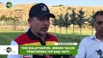 Yeni Malatyaspor, Sergen Yalçın yönetiminde top başı yaptı