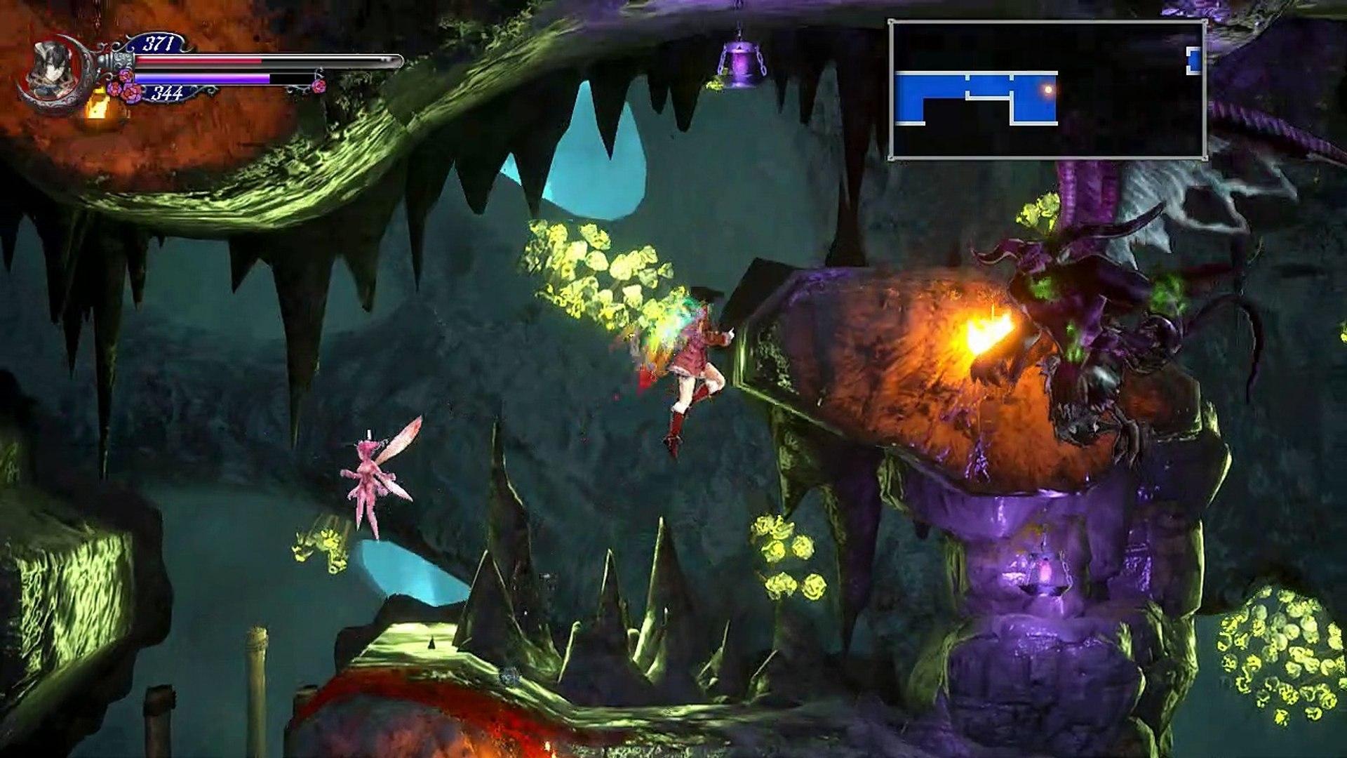 Bloodstained ROTN,Gameplay Español 11, Vaciando la fuente de sangre para conseguir nadar bajo el agu
