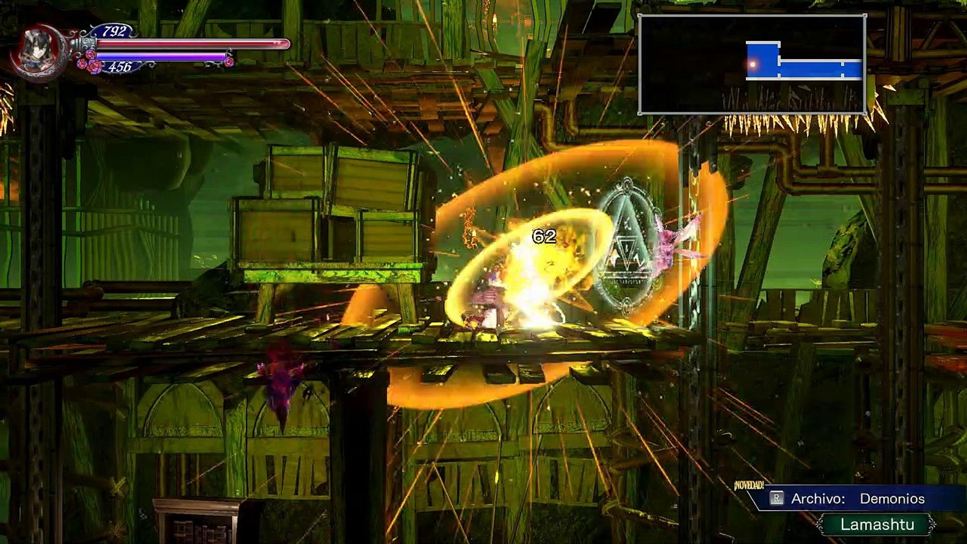 Bloodstained ROTN,Gameplay Español 12, Alfred y Dominique discuten en el laboratorio secreto
