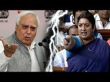 Alert BJP supporter foils Kapil Sibal's plans of attacking Smriti Irani, forces him to delete tweet