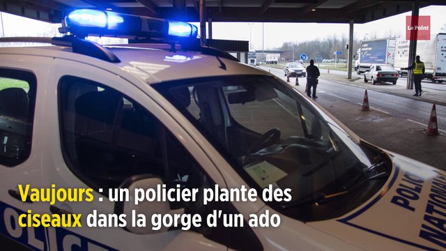 Vaujours : un policier plante des ciseaux dans la gorge d'un ado