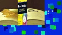 About For Books  Pre-Calculus for Dummies  For Kindle
