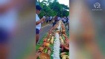 Boodle fight during first Crab Festival in Castilla, Sorsogon